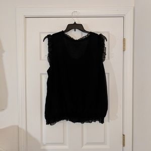 Old Navy Tops - Old Navy semi sheer black sleeveless blouse sz XXL